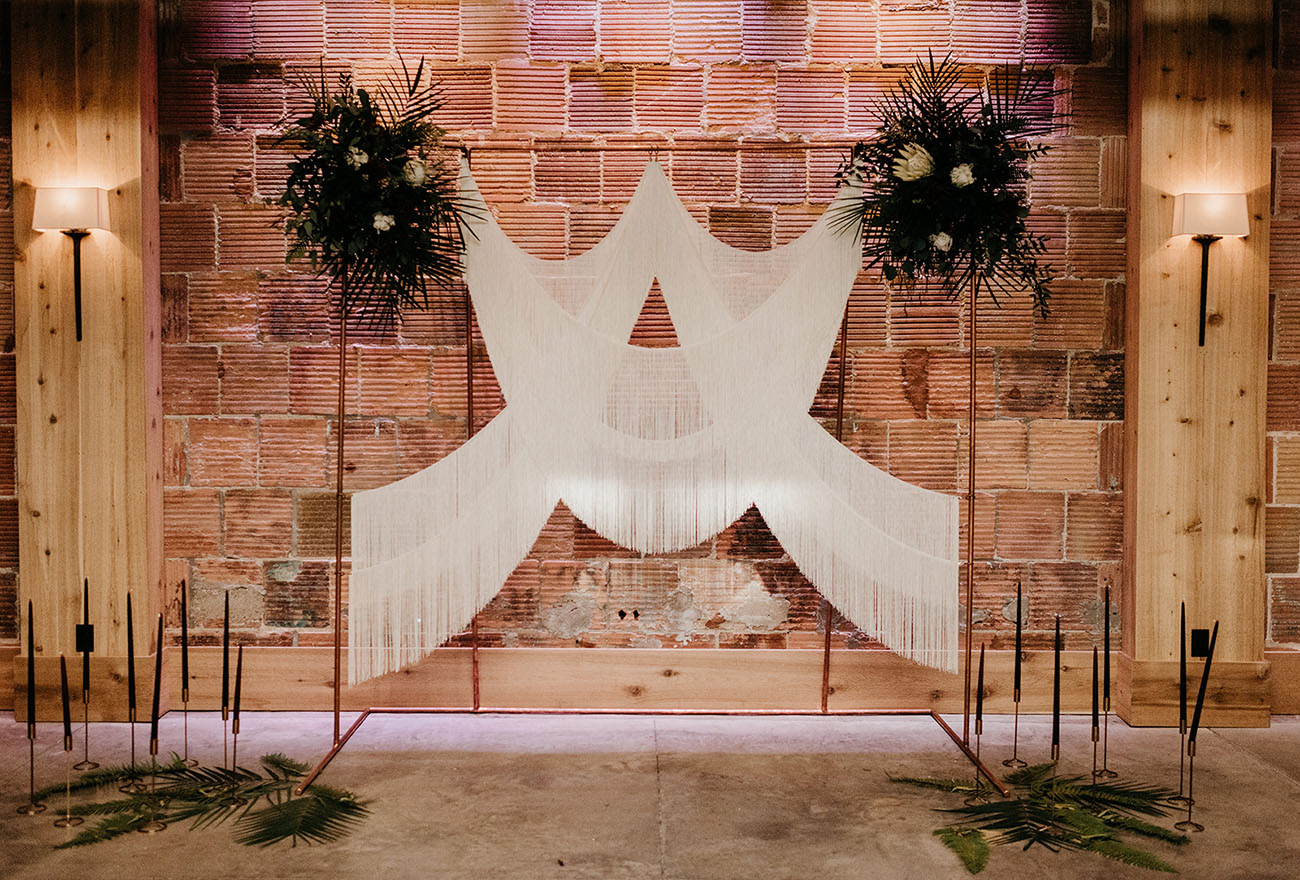 Los backdrops de boda más bonitos
